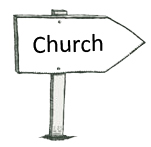 which way to church